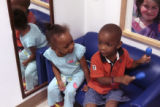Che McNeal, 2, left, and Gerald Love, 3, play at the Mile High Montessori Edna Oliver Child Care...
