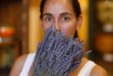 At Ambiance de Provence, sales clerk Jeannene Gonzales (cq)  holds some lavender September 21,...