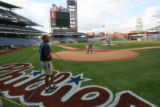 [ES1815] Philadelphia Phillies  grounds crew grooms the field at Citizens Bank Park in...
