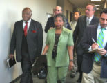 L TO R: Rev. Acen Phillips (cq) and his wife LaQuilla enter Arapahoe County District Court for...
