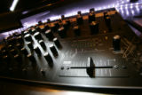 A mixer and cross fader, used by dj's, at Club Vinyl, at 1082 Broadway Ave. in Denver on Sept. 17,...