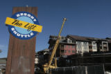 Work continues on the two new condominiums, Thursday morning, October 4, 2007, at Winter Park ski...