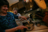 Dotty Karo,(cq)(r) 82 is the master chef as her daughter Cherie Karo Schwartz stirs in extra...