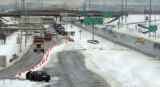 Denver, Colo. April 11,2005 Looking west at I-70 and Tower Road on Monday (4-11-2005). I-70 was...