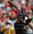 [JOE0676] Colorado Rockies Kazuo Matsui at bat against the Philadelphia Phillies in Game 2 of...
