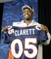 (L-R ) Denver Bronco's NFL 4th draft pick, in round 3, 101 pick overall,  Maurice Clarett, RB from...
