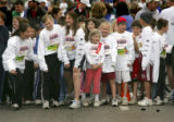 A group of kids lauch before starting the Kid's Sprint at the 23rd annual Cherry Creek Sneak in...