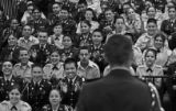 (DENVER, COLO.,  MARCH 176, 2005)  Lincoln High School JROTC Battalion Commander, Fabian, 18,...