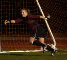 Liz Orton defends the goal for Fort Collins High School in a game against Rocky Mountain High...