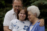 (MORRISON, Colo., June 9, 2004)  Linda, 49 and Dave Giere, 61, and Linda's mom, Lucy Prichard,...