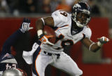 JPM569  Denver Broncos Eddie Royal returns a punt against the New England Patriots in the third...