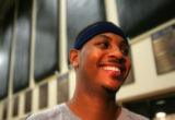 (CS0010) Carmelo Anthony speaks with the media after practice about Allen Iverson being traded to...