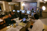 Election night, 2008 ,in the Rocky Mountain News newsroom. Mark Holm / Rocky Mountain News