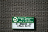 BG0003 The marque memorializes fellow George Washington high school student, Amelia Bates, a...