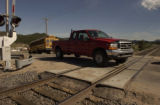 This railroad crossing is on Perry Park Avenue just up from Spruce Mountain Road and adjacent to...