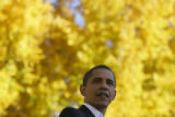 Democratic presidential candidate Barack Obama speaks at The Oval on the Colorado State University...