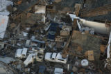 JOE736 Aerial view on Friday morning, May 23, 2008 of parts of Windsor, Colo., that was hit by a...