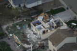 JOE249 Aerial view on Friday morning, May 23, 2008 of parts of Windsor, Colo., that was hit by a...