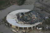 JOE291 Aerial view on Friday morning, May 23, 2008 of parts of Windsor, Colo., that was hit by a...