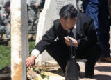 FRIDAY MAY 23RD, 2008 Yoo Bok Kim payed his respects to his son Sgt. Shin W. Kim,  who was one of...