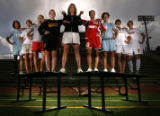 The 2005 Girls All-Colorado Soccer team from left: Laura Engle-Greeley West, Alex Cousins-Fort...