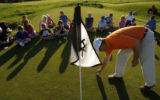 DM0236  Dustin Jensen, Director of Youth Programs for the Colorado Golf Association, teaches a...