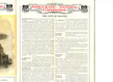 Inside page of a Union Pacific Railroad brochure on Denver at the time of the 1908 Democrtic...