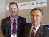 Cutline:   Sen. Scott Renfroe and Rep. Kevin Lundberg, who represent the area hit by tornadoes,...