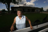 DM1060  Vonna Purcella, 69, stands in front of her home where she lives with ehr husband, Joe,...
