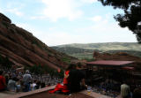 ({seqn)} A couple kisses before the REM concert at Red Rocks Amphitheatre in Morrison, Colo., on...