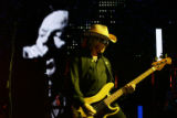 R.E.M. bassist Mike Mills performs at Red Rocks Amphitheatre in Morrison, Colo., on Tuesday, June...