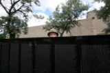 (PG16769) Faith Bible Chapel member  and Vietnam veteran Lou Jones peeks over the wall while...