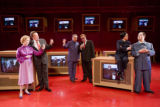 On stage for the scence setting toast on May 30, 2008 from left to right,Maria Kanyova plays Pat...