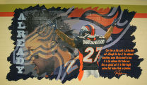 BG0002 A mural is painted on the inside of the new Darrent Williams Memorial Teen Center scheduled...