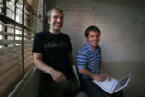 (068) Rob Johnson, right, and Josh Fraser, the founding partners of EventVue, a social networking...