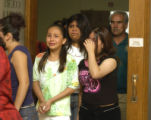 Unidentified friends and family of Griselle Suarez leave Denver County Court  on Wednesday  June,...