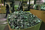 A box of dismantled hard-drives sits in the warehouse, Monday afternoon, November 10, 2008, at...