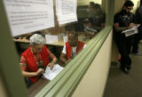 MJM262   Denver Elections Division workers examine voter ballots as counting has begun, but not...