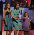 NY385 - **FILE** This Aug. 25, 2008 file photo shows Michelle Obama, wife of Democratic...