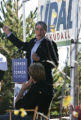 Mark Udall speaks as Robert Redford listens   at a Udall rally at the Aurora Xeriscape Gardens in ...