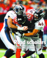 DM0863  Denver Broncos FB Spencer Larsen #46, right, and linebacker Jamie Winborn #51 wrap up...