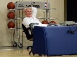 (CS0726) Head Coach George Karl at practice at the Pepsi Center in Denver, Colo., on Monday, Nov....