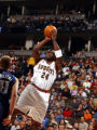 03 Mar 2002:  Antonio McDyess #24 of the Denver Nuggets put up a jump shot  against the Dallas...