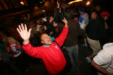 (CS0172) Obama supporters celebrate the election of Barack Obama as the new president of the U.S....
