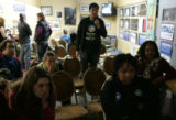 Obama supporters watch the victory party at Brother Jeff's Cultural Center in Denver, November 4,...