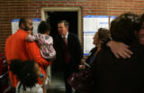 (CS0011) Denver Mayor John Hickenlooper visits poll workers and voters at at Mi Casa in Denver,...