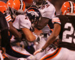 (CS1167) Peyton HIllis gets a first down on a rush up the middle in the third quarter of the...