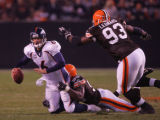 (CS1755) Jay Cutler is sacked by Kamerion Wimbley in the fourth quarter of the Denver Broncos...