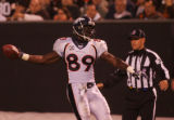 (CS1811) Daniel Graham celebrates a touchdown reception in the fourth quarter of the Denver...