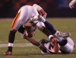 (CS1860) Dre Bly tries to tackle Joshua Cribbs in the fourth quarter of the Denver Broncos against...